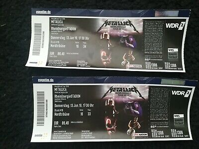 》2 Metallica / Tickets《 Köln  13.6.2019 Worldwired Tour!