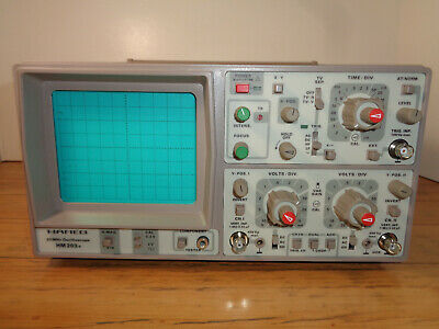 Hameg Instruments Hm206 Oscilloscope & 2 Passive Probes X10/X1 W/ Instructions