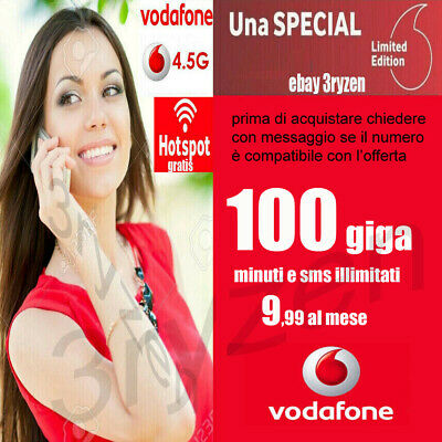 Passa a Vodafone SPECIAL 50 GB MIN.ILLIM. €6,99 mese da TIM WIND 3 ILIAD VIRTUAL