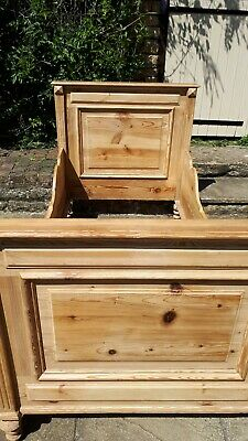 Antique Pine Sleigh Bed Single - Large