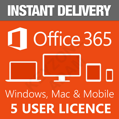 Microsoft Office 365 Home Subscription 5 Users PC/Mac | Lifetime+ 5TB Cloud