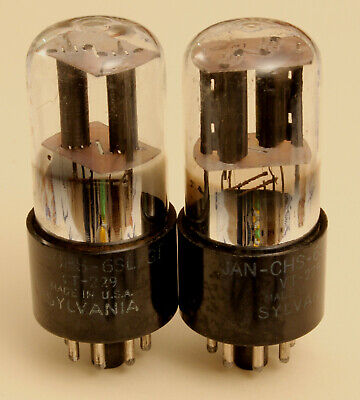 One pair of military triodes Sylvania VT-229 = 6SL7GT - ECC35. Perfectly matched
