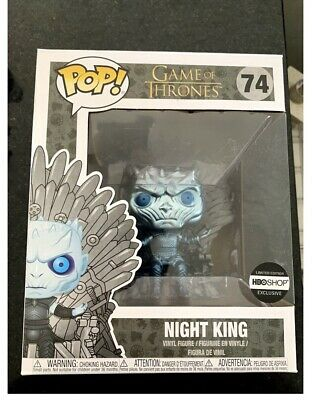 Funko Pop Game Of Thrones #74 Metallic Night King on Throne HBO Shop Exclusive