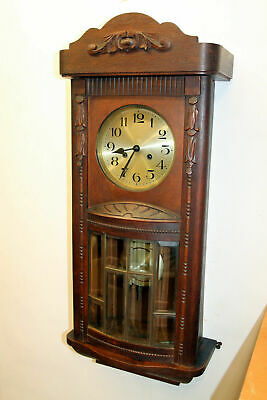 ***Antique Wall Clock Vienna Regulator 1920th *H&R*with convex glass cover