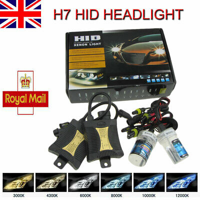 H7 55W HID Headlight  Kit  Xenon Lamps Ballasts Canbus  6000K Error Free UK