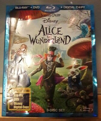 Alice im Wunderland 3 Disc Set Bluray, DVD, Digital Copy