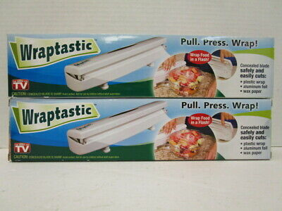 2 Wraptastic Dispenser Pull Press Wrap Food Paper Plastic Foil Compact - Nt 5086