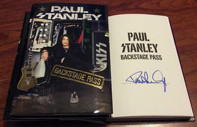 Paul Stanley Signed Backstage Pass Book Kiss Star Child Love Gun Awesome