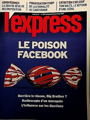 L'express*Poison Facebook*Accros Fb?*Fichage Hôpital*Georges Seurat*Criminels Fr