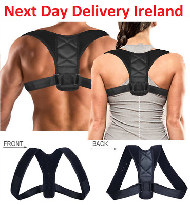 Posture Corrector Adjustable Clavicle Back Support Neck Brace Shoulder Men Women