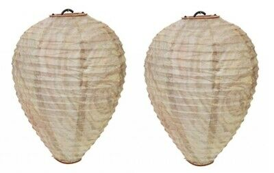 2 x Anti Wasp Paper Decoy Wasps Nests Humane Pest Control Simulated Deterrent