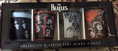 NEW in Box 2010 The Beatles Collectors Series Pint Glass Set of 4 by Apple Corp