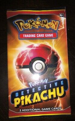 Pokemon TCG Detective Pikachu Movie Booster Pack 2 Promo Cards SM190 Sealed New