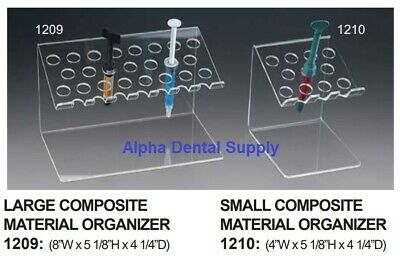 Plasdent Dental Composite Material Organizer Small Large Clear Acrylic