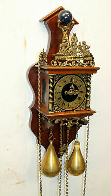 Old Wall Clock Dutch Zaanse Zaandam Warmink Wuba 8 Day Clock heigth 55 cm *FHS*