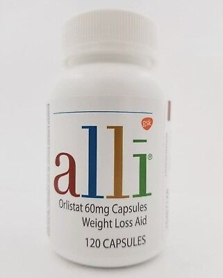Alli Orlistat 60 mg  Weight Loss Aid 120 Capsules Exp: 12/2020