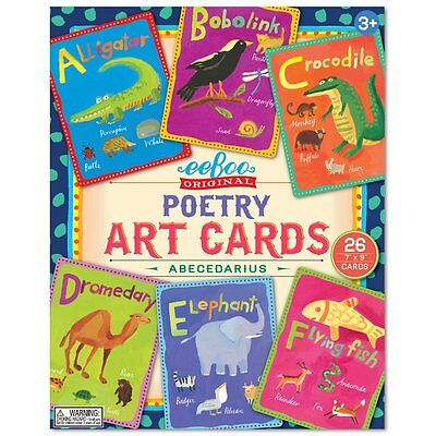NEW eeBoo Alphabet Poetry Art Flash Cards, Abecedarius