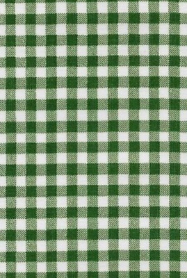 Oilcloth Fabric Gingham Checked Antique Bottle Green Sold in Yards or Bolts