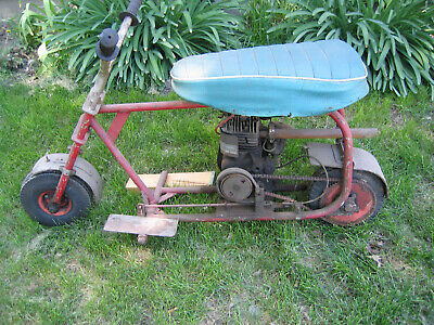 Vintage Homemade Motor Scooter / Minibike