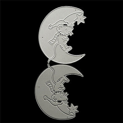 Mouse Moon Cutting Die Stencil DIY Scrapbooking Album Paper Card Embossing-Craft