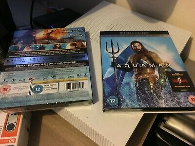 Aquaman 4K UHD Ultra HD  Blu-ray- Jason Momoa - Brand New & Sealed