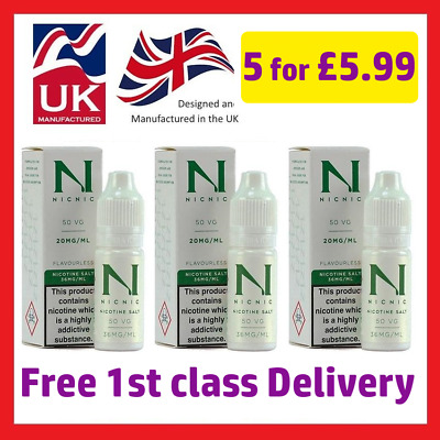 Nic Salt Shot by NicNic 50%VG 20mg/ml Nicotine Salt Shot - 10ml - TPD - UK Made