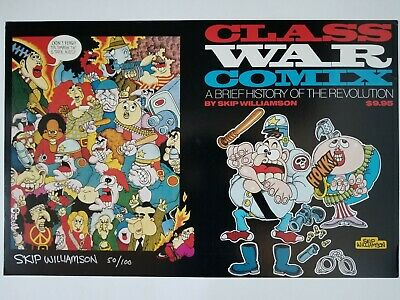 Rare Signed Skip Williamson Underground Class War Comix Limited Print Poster