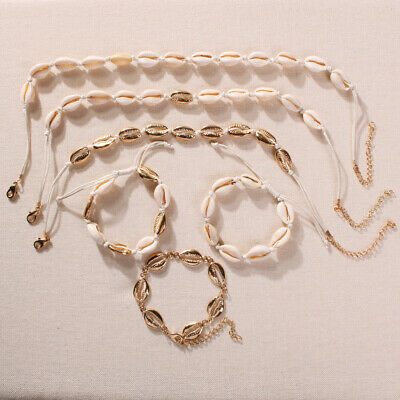 Women Girls Jewelry Shell Necklace Cowrie Choker  Summer Beach  Seashell Conch
