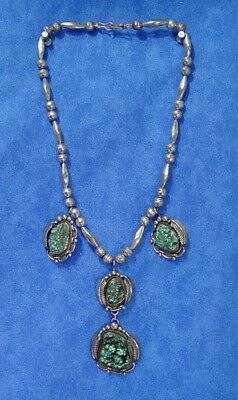 Navajo Turquoise Necklace & Size 8 Ring Jewelry SET  by Jane Yikaazba Popovich