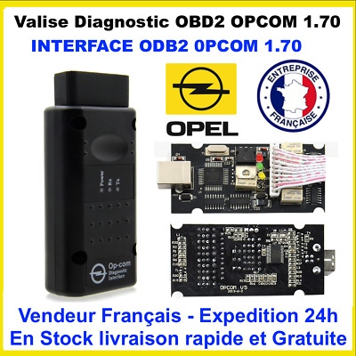Valise Diagnostic OBD2 voiture Opel OP COM 1.7 version 2018 - Neuf