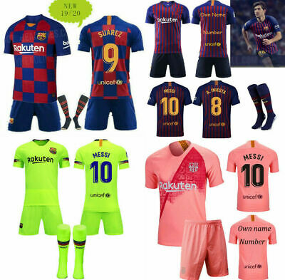 2019/20  Football Kits Soccer Suits Training Jerseys For Kids Boys 3-14Years
