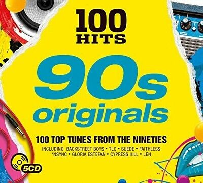 100 Hits: 90s Originals - Various Artist (2017, CD NEUF)5 DISC SET