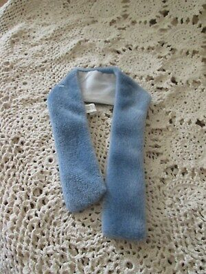 Vintage Barbie & Same Size Friends Disney Htf Blue Grey Faux Fur Stole Mint