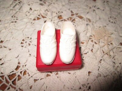 Vintage  1960'S Ken's White Cleats Squishy Rubber  Hong Kong Euc