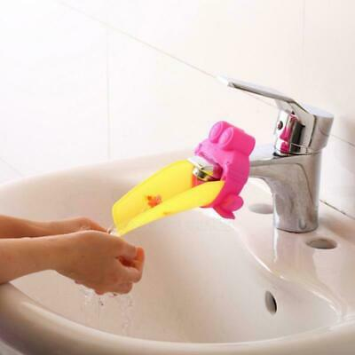 Kid Hand Washing in Bathroom Sink Faucet Extender For Children Toddler