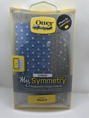 Otterbox My Symmetry Series 2-Pack Inserts for iPhone 6/6S-Blue Fan/Grey & White