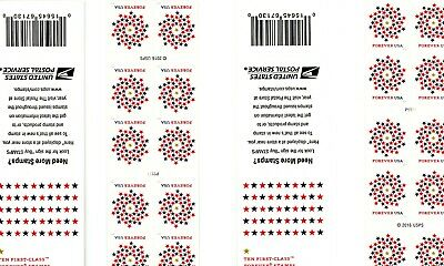 USPS Forever Stamps 1st Class - 20 Sheets of 10  / 200 Stamps