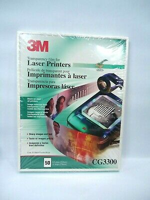 """3M CG3300 Transparency Film for Laser Printers 50 Sheets NEW 8.5"""" x 11"""""""