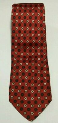 53a50369cc57 Brooks Brothers Makers Necktie Red Multi-Color Geometric Pure Silk Tie 3.5  x 60