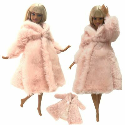 Kids Girls Doll Coat Fashion Handmade Grows Outfit Flannel Clothes Accessories