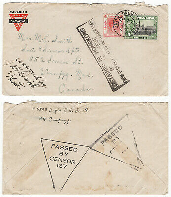 CHINA-1941-45 WWII 4 years DETAINED IN HONG KONG BY JAPANESE Censored Cover-RARE