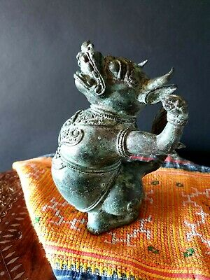 Old India Bronze / Brass Palanquin Figure …beautiful collection & display / acce