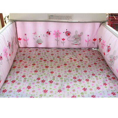 4Pcs Rabbit Baby Infant Cot Crib Bumper Safety Protector Toddler Nursery