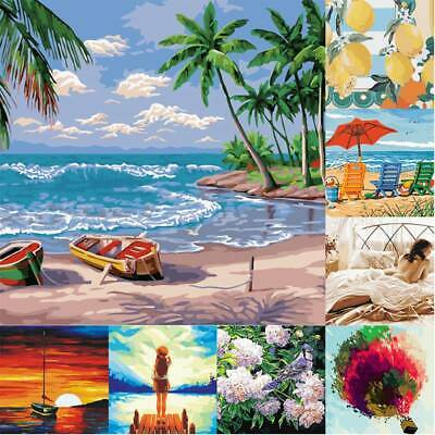 AU-DIY Oil Painting Frameless Pictures By Numbers Kit Wall Art Canvas Home Decor