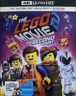 THE LEGO MOVIE 2: THE SECOND PART ~ 4K ULTRA HD + Blu-Ray + Digital *New *Sealed