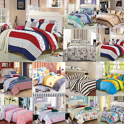 All Size Single Double King Duvet Cover with Pillow Case Quilt Cover Bedding