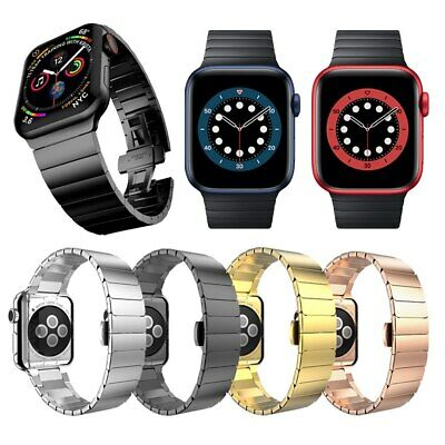 Metal Steel Link Watch Band Strap For Apple Watch Series 1 2 3 4 5 38/40/42/44mm
