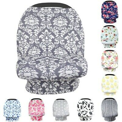 Clearance Sale 3pc Stretchy Car Seat Cover Boys Girl Infant Carseat Canopy 08j41