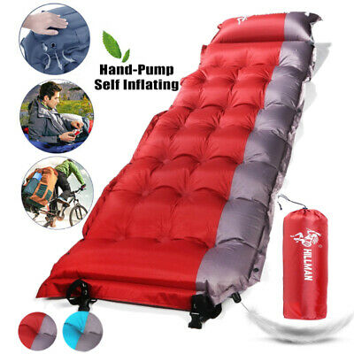 Outdoor Self Inflating Mattress Pad Air Camping Hiking Sleeping Mat Bed Thicken