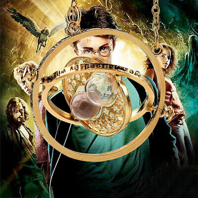 Harry Potter Time Turner Collar Hermione Granger Giratorio Reloj de Arena